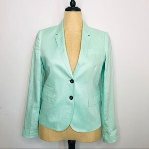 J. Crew Factory Schoolboy Linen Mint Green Blazer